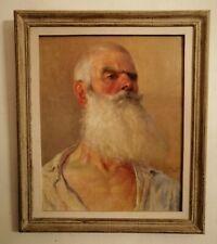 Grand portrait signé Georges Eveillard 1904 Peintre Nantais