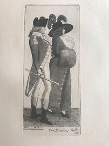 Orig.19thC John Kay Engraving The Evening Walk