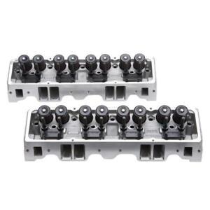 Edelbrock Engine Cylinder Head Set 5073; E-Street 185cc Aluminum 70 for SBC