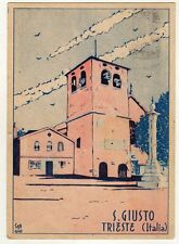 cartolina postcard - TRIESTE S. GIUSTO