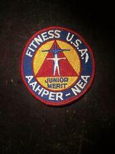 Vintage FITNESS U.S.A. AAHPER-NEA JUNIOR MERIT Patch NEW!
