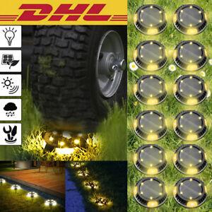 LED Solarleuchte Solarlampe Bodenstrahler Bodeneinbau10Leds Außen Gartenstrahler
