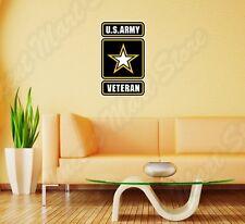 "US Army Veteran USA United States Wall Sticker Room Interior Decor 18""X25"""