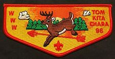 TOM KITA CHARA OA LODGE 96 SAMOSET COUNCIL WI LEAPING BUCK RED SERVICE FLAP