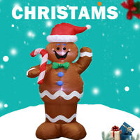 4.9FT Inflatable Gingerbread Man Christmas Santa Claus Yard Garden Outdoor Decor