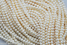 "4-5mm charms natural freshwater white pearl round loose beads jewelry 15"" AA"