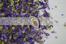 Flores secas y artificiales decorativas de color principal azul para el hogar