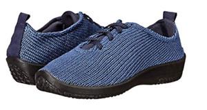 "Arcopedico LS Denim ""Shocks"" Lace-Up Shoe Flat Women's sizes 36-42/5-11 NEW!!!"