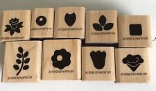 9 NEW 1998  Retired Stampin Up Borders Wood Rubber Mounted Stamp Floral