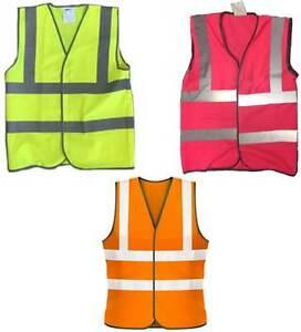High Visibility Vests - yellow, pink, orange. HiViz High Vis HiVis High Viz