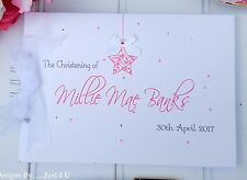 PERSONALISED CHRISTENING - NAMING DAY- BABY - GUEST BOOK- SCRAPBOOK ALBUM- STAR