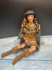 Patricia Rose Porcelain Native American Indian Doll Pocahontas Rare 1998 #185