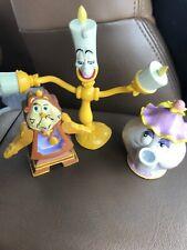 Beauty Beast Lumiere Mrs Potts&Cogsworth Disney Just Toys BendEm Bendable Figure