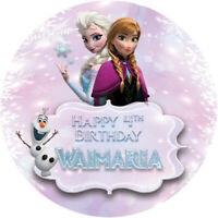 Frozen snowflake Theme Edible REAL Icing Image Birthday Cake Toppers Cupcake