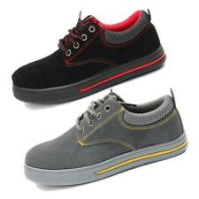 Mens Steel Toe Safety Shoes Trainers Suede Work Boots Hiking Sneakers UK 7-11