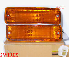 Bumper Front Bar Indicator Lamp AMBER LENS PAIR 2/4WD For TOYOTA Hilux 1988-97