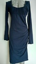 £200 VELVET by GRAHAM & SPENCER midi bodycon dress size M long sleeve knee lengt