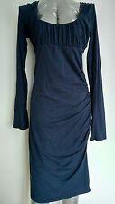 £200 VELVET by GRAHAM & SPENCER midi bodycon dress size M long sleeve knee lengt