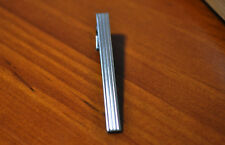 New Pure Men Silver Stripes STAINLESS STEEL Wedding Tie Clip Pin Bar Party