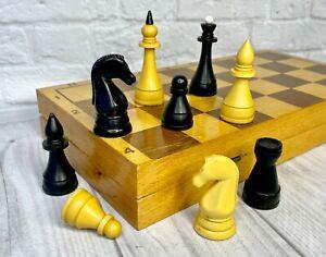 Chess USSR Full Set Carbolite Grossmeister Vintage Soviet 35X35cm Russia