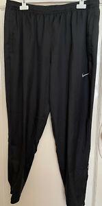Nike Mens Dri-Fit Black Running Joggers Pants in Size XL
