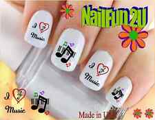 "RTG Set#544 IMAGE ""I love Music 2"" WaterSlide Decals Nail Art Transfers Salon"