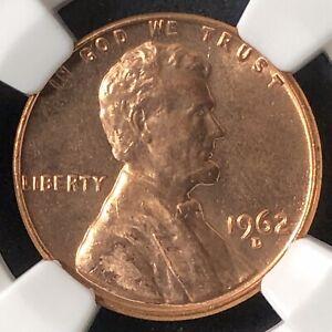 1962-D 1C Lincoln Memorial One Cent  NGC UNC DETAILS      3583074-028