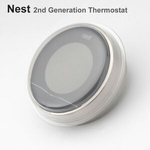 Nest Learning Smart 2nd Generation Thermostat in Stainless Steel - silvery