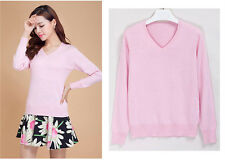 New Autumn&Winter Womens Pullovers Cashmere Sweater V-neck Slim Knitted Sweaters