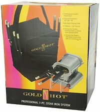 GOLD N HOT PROFESSIONAL 7PC THERMAL IRON STOVE KIT FLAT IRON MARCEL CURL GH5249