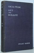 OSCAR WILDE Art And Morality Defence Dorian Gray FIRST EDITION 1/475 1908