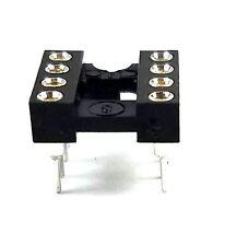 1PCS DIP-8 IC Sockets Machined Round Contact Pins Holes Pitch 2.54mm DIP8 DIP 8