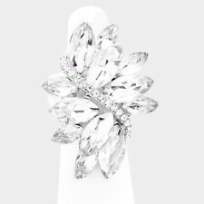 Maxie's Fun Rings-Marquise Rhinestone Cluster Stretch Ring-Pageant Drag Queen