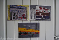5 Hull art postcards (Boothferry Prk, Bob Carvers Syd scarborough, ABC, spiders