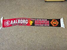 RARE 2008/09 Aalborg  V Manchester United Champions League Football Scarf
