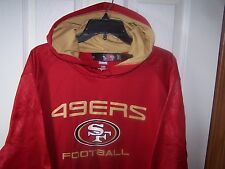 San Francisco 49ers Red Lt Wt  Hooded Sweatshirt Hoody  Large   New with Tags