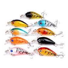 New Set 5pcs Fishing Lures Bass Plastic CrankBait Crank Baits Tackle 4.5cm/4g
