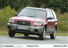 Pressefoto Subaru Forester 2.0 X 9 03 Foto press photo 17,8x12,7 cm Auto PKWs