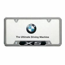 BMW X5 LICENSE PLATE FRAME, POLISHED STAINLESS STEEL 82120418629