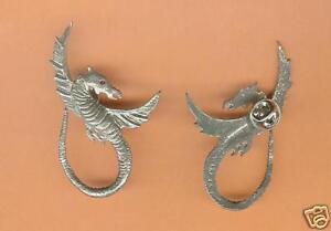 4 wholesale pewter dragon eyeglass holder pins E5116