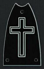 GUITAR TRUSS ROD COVER - Custom Engraved - EPIPHONE Casino - CROSS - Black