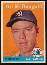 1958 Topps #20 GIL McDOUGALD (New York Yankees) d.2010 *AUTOGRAPHED*