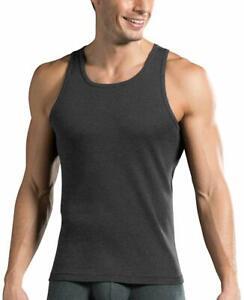 Jockey Men's Cotton Vest (Charcoal Melange)