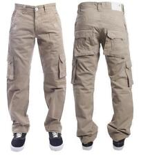 New Mens Eto 226 Beige Straight Leg Combat Chino Jeans Pockets Size 38S RRP £45