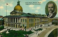 Postcard State House, Boston, MA