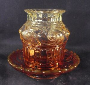Baccarat Rose Tiente Fairy lamp two piece signed helical twist