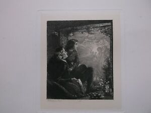 RICHARD REDGRAVE ORIGINAL ETCHING MINISTERING ANGELS JUNIOR ETCHING CLUB 1857