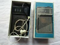 VINTAGE PYE RADIO 1020 boxed / with carry strap + one ear earphone + guarantee c