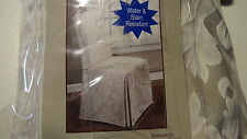 Dining Armless Chair Cover New Beige & Cream Colors Armless