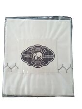 John Robshaw Queen Flat Sheet Stitched Earth